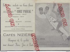 Au Plus Rapide Calendrier Publicité Pernod Café Nizière Bar Chez Pascal Oran Algérie - Calendriers