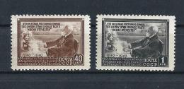 URSS143) 1949 Cent.rio Nascita Di PAWLOV  - 2 Val MNH - 1923-1991 USSR