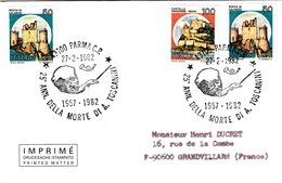 ITALIE-  COVER - 25 ANN. DELLA MORTE DI A. TOSCANINI - PARMA 27.2.1982 - 6. 1946-.. Republik