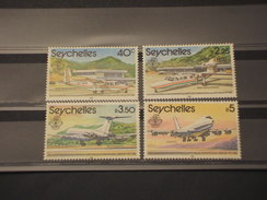 SEYCHELLES - 1981 AEREOPORTO  4 VALORI - NUOVI(++) - Seychelles (1976-...)