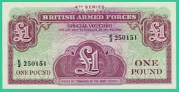 1 Pound  - Angleterre -  Spécial Voucher - N° K/3 250151 - Neuf - 4è Série - - Military Issues