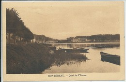 Montereau-Quai De L'Yonne-(SÉPIA) - Montereau
