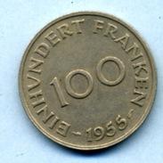 1955 100 FRANKEN - Saarland