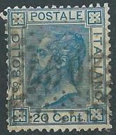 1867 REGNO USATO EFFIGIE 20 CENT TIRATURA TORINO - S26-15 - 1861-78 Vittorio Emanuele II