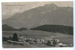 Leysin Et Le Chamossaire, Bergbahn / Eisenbahn / Zug, 1914 - VD Vaud