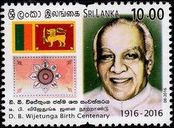 Sri Lanka - 2016 - D.B. Wijetunga Birth Centenary - Mint Stamp - Sri Lanka (Ceylon) (1948-...)