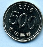 2016 500 WON - Corée Du Sud