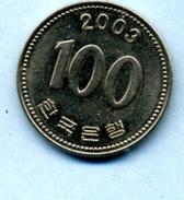 2003 100 WON - Korea, South