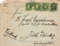 LETTRE COVER  SVERIGE SUEDE 11.2.1904 SAVOY HOTEL MALMÖ  TO FURTH NURNBERG GERMANY