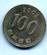 2002 100 WON - Corée Du Sud
