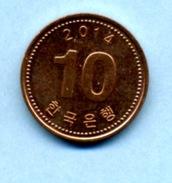 2014   10 WON - Korea (Zuid)