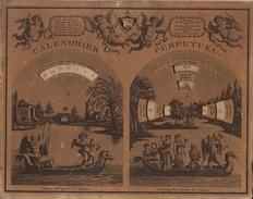 Rare Ancien Calendrier Perpétuel à Système Paris Chez Les Frères Noel Rue Saint Jacques N16 - Calendars