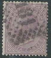 1863-65 REGNO USATO EFFIGIE 60 CENT TIRATURA TORINO - S21-19 - 1861-78 Vittorio Emanuele II