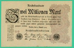 2 Million De Mark  - Allemagne - 9 Août 1923 - N° ND  - Sup - - 2 Millionen Mark