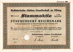 Haffuferbahn Aktiengesellschaft Elbing 1924 - Chemin De Fer & Tramway