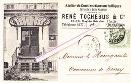 Atelier De Construction Métalliques - RENE TOCHEBUS & Cie - 16-18, Rue Du Houblon - BRUXELLES - Commerce