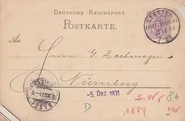 DR Ganzsache KOS Stetten (Amt Lörrach) 21.12.89 - Deutschland