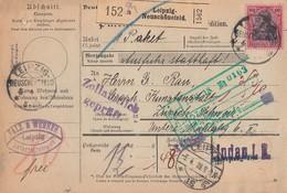 DR Paketkarte EF Minr.93II KOS Leipzig Neuschönefeld 4.4.18 Gel. In Schweiz - Briefe U. Dokumente