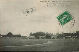 Circuit De L'Est D' Aviation - Août 1910 Première Etape (Paris Troyes).Le Champ D' Aviation De Pont Hubert - France