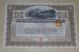 New York, Ontario And Western Railway 1922 - Bahnwesen & Tramways