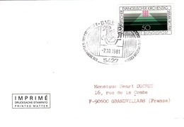 ALLEMAGNE - BUND -  COVER - BADEMS 7.10.1981 - II FESTNOCHE DER JACQUES OFFENBACH - [7] República Federal