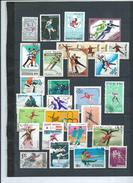 Lotpm 214 - Sports - Une Page D'album De Timbres Theme Patinage De Vitesse