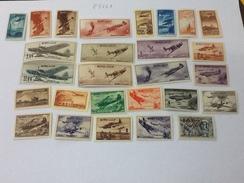 83241) RUSSIA 1945-46 Scene Di Guerra Aerea -aerei-N.A 70+72-89-NUOVI**+90-96 Nuovi*