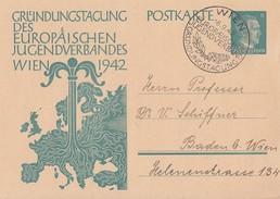 DR Ganzsache P309 SST Wien 16.9.42 - Briefe U. Dokumente