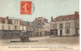 Bain-de-Bretagne Place De La République Et La Rue Des Quatre-Vents - France