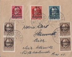 Bayern Brief Mif Minr.2x 116,2x 152, 171-173 München 10.2.20 - Bayern
