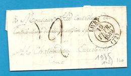 Seine Et Oise  - Livry Pour Chateaudun (Eure Et Loir). CàD Type 13 + Taxe Tampon 2. 1849. Indice 9 - Marcophilie (Lettres)