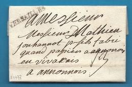 Seine Et Oise  - Versailles Pour Annonay (Ardèche). LAC De 1778 - Marcophilie (Lettres)