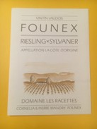 3288 - Suisse Vaud Founex Riesling X Sylvaner Doamine Des Racettes - Sonstige