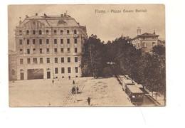 M4153 Istria Croazia Slovenia FIUME Ex Italia TRAM 1919 Viaggiata Manca Francobollo - Croatia