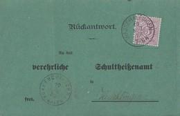Württemberg Karte EF Minr.45 Wasseralfingen 18.3.86gel. Nach Heuchlingen - Wuerttemberg