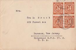 Gemeina. Brief Mef Minr.4x 925 Oberneuland 10.4.47 Gel. In USA - Gemeinschaftsausgaben