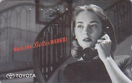 RARE Télécarte Japon - CINEMA / Film D' ALFRED HITCHCOCK - Actrice Au Téléphone & Pub TOYOTA  Movie Japan Phonecard 7501 - BD
