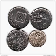 ITALIA LOTTO 4 MONETE COMMEMORATIVE 100 LIRE - Commemorative