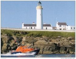 Postcard - Cantick Head Lighthouse & Longhope Lifeboat, Orkney. LigC47 - Lighthouses