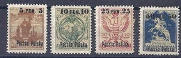 170026828  POLONIA  YVERT    Nº  1A/4  */MH - ....-1919 Gobierno Provisional
