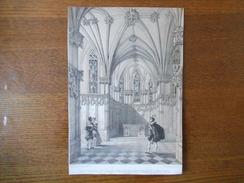INTERIEUR DE LA CHAPELLE DU CHATEAU D'AMBOISE DESS. D'AP. NATURE ET LITH.PAR MONTHELIER IMP. LEMERCIER 28cm/19cm - Vieux Papiers