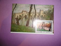 CARTE MAXIMUM CARD LE PONT DE MANTES PAR JEAN-BAPTISTE CAMILLE COROT RAS AL KHAIMA - Impressionismo