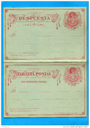 MARCOPHILIE -CHILI-carte Entier Postal-2 C- Colon- Neuf**con Respuesta Pagada-1895 - - Chile