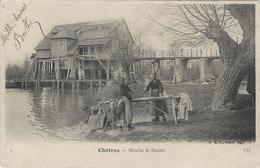 Châtres - Moulin De Boutet.( Lavandières Et Moulin Sur Pilotis) - France