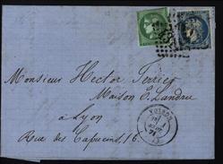 Tarif 1er Septembre 1871 Ceres Cérès Emission Bordeaux Voiron Isère Gros Chiffre YT 42 B Et 37 - 1849-1876: Classic Period