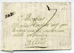 MP De PARIS ( PAR Infini )  / Dept De La Seine / 19 Avril 1777 / Taxe 7 Sols - Marcophilie (Lettres)