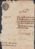 E5002 CUBA ESPAÑA SPAIN. 1833 CERTIFICACION DE LA UNIVERSIDAD DE LA HABANA. - Historical Documents