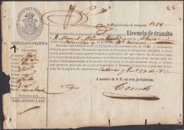 E5016 CUBA ESPAÑA SPAIN. 1850. PASSP LICENCIA DE TRANSITO NATURAL DE ASTURIAS. - Historical Documents