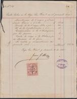 E5023 CUBA ESPAÑA SPAIN. 1880. TABACO VEGA SAN FRANCISCO. REPORTE GASTOS DE NEGROS LIBRES. FREE SLAVE TOBACCO. - Documents Historiques