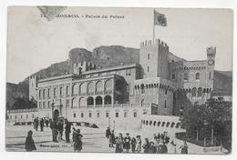 (RECTO / VERSO) MONACO - PALAIS DU PRINCE ANIME - CACHET ET TIMBRE DE MONACO - CPA VOYAGEE - Fürstenpalast